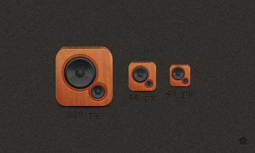 Wood Speaker Icon by up1x