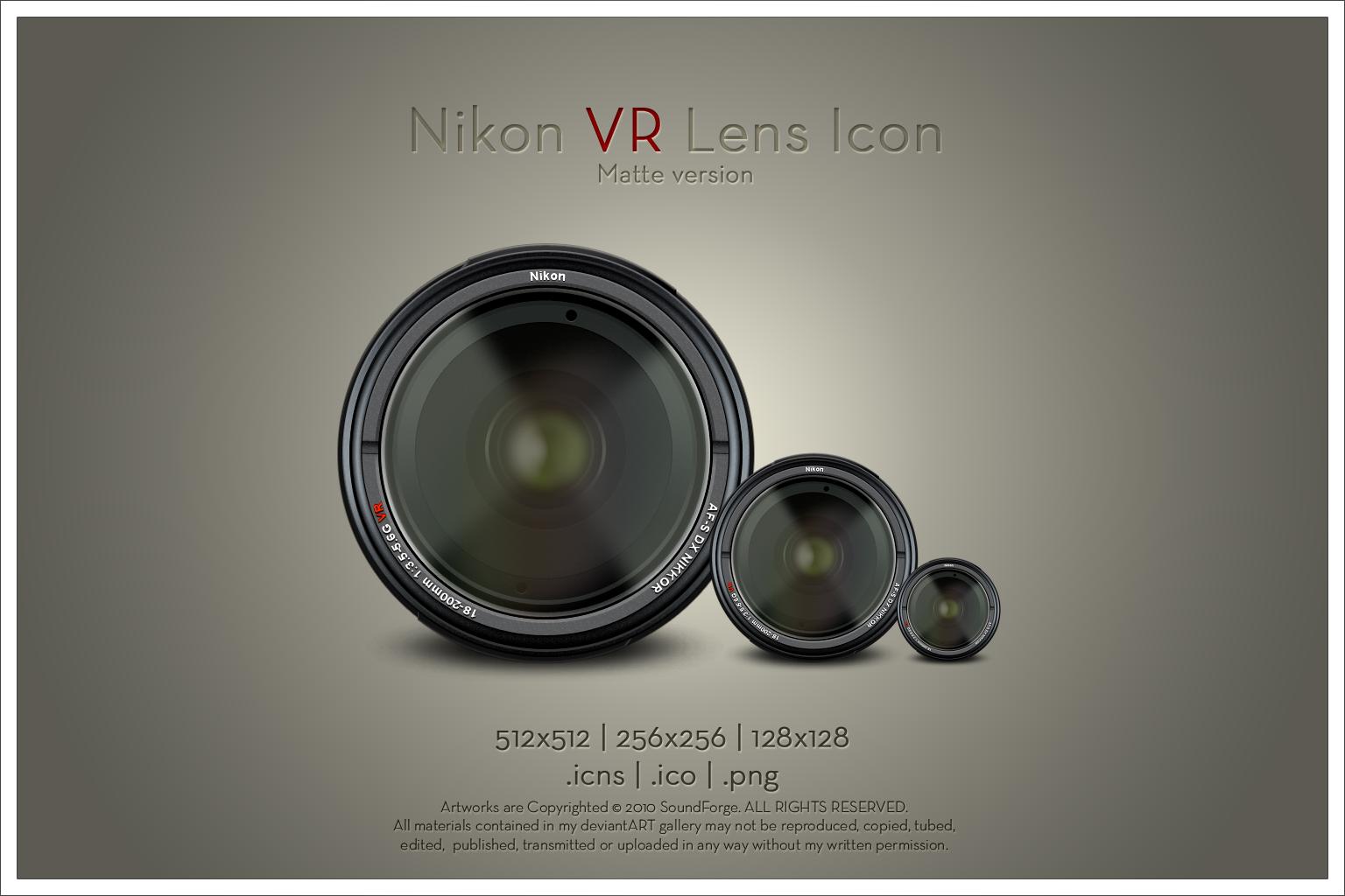 Nikon VR Lens Icon v1 by SoundForge