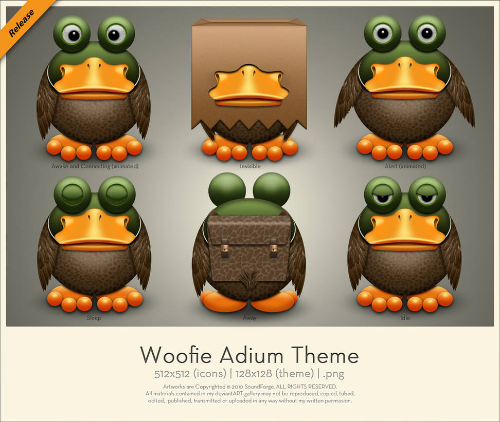 Woofie Adium Theme by SoundForge