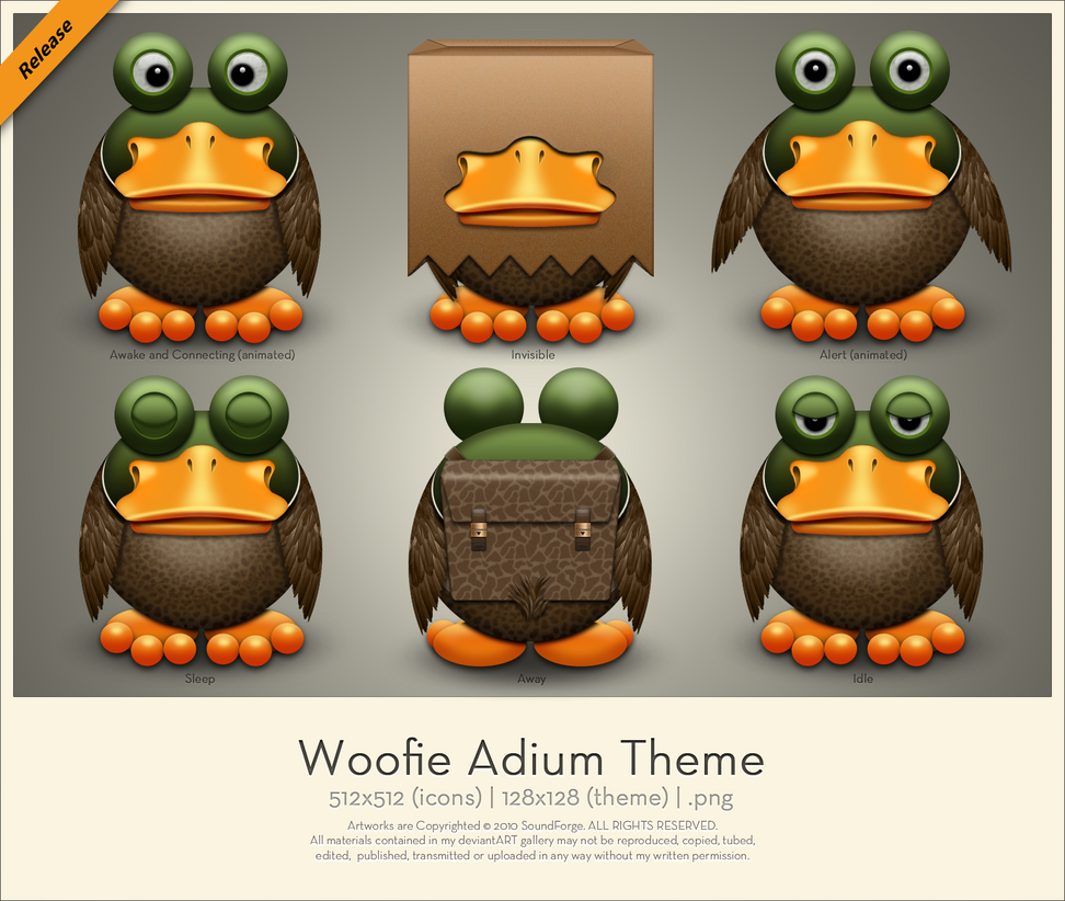 Woofie Adium Theme by SoundForge