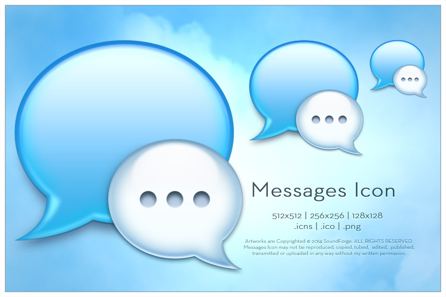 Messages Icon by SoundForge