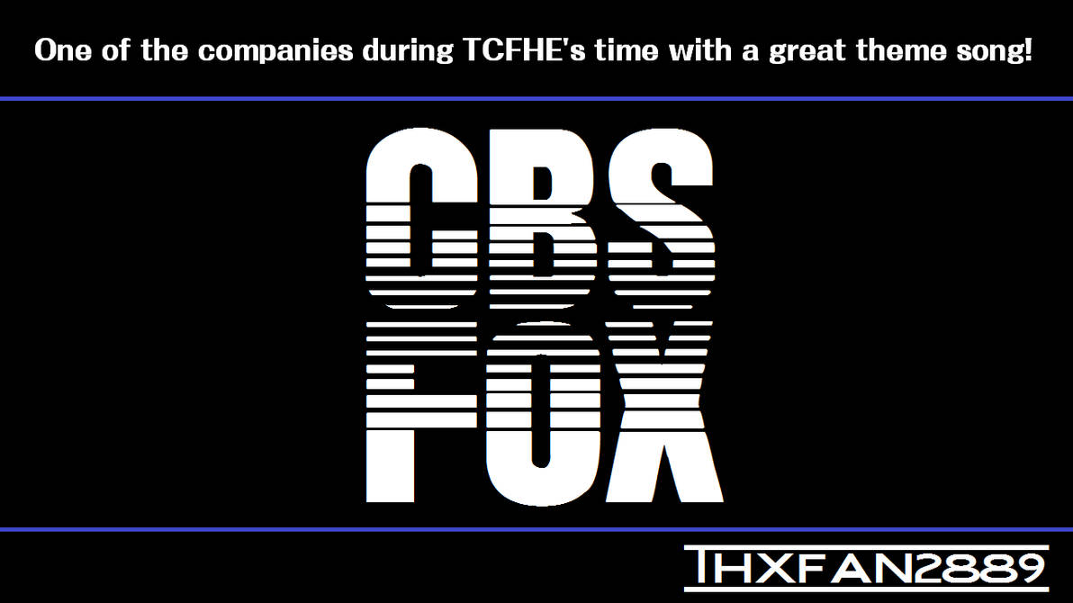 CBS/FOX Logo Font by THXFan2889 on DeviantArt