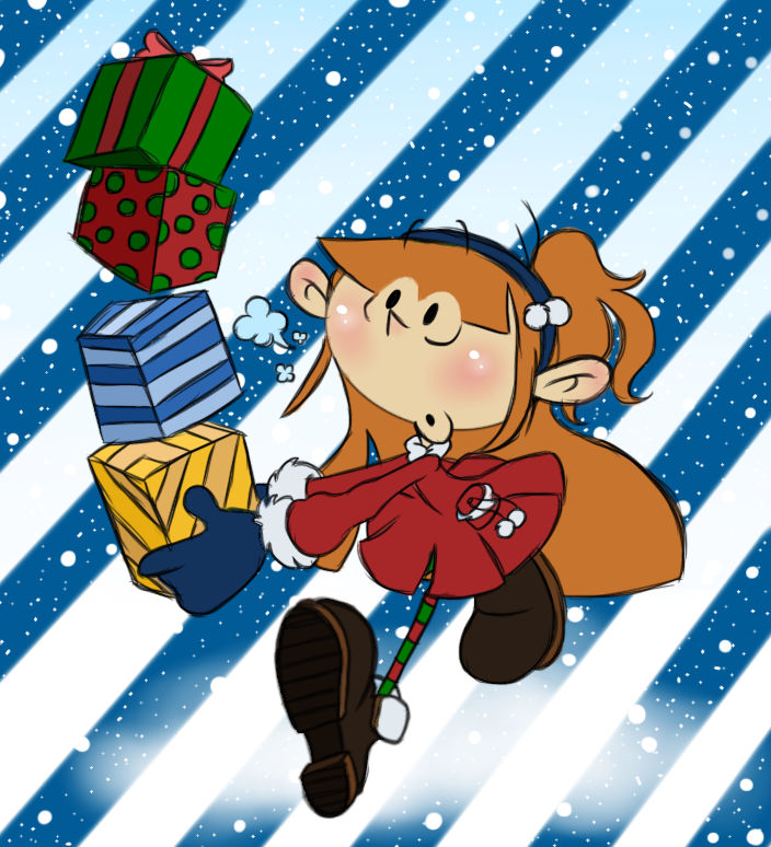 Numbuh 97 spreading holiday cheer!