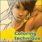 Coloring technique by Yuni