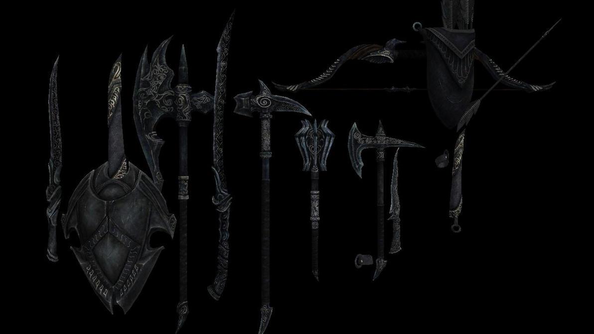MMD X SKYRIM: EBONY WEAPONPACK DL by Zoroark67