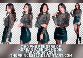 PNG PACK #305 | PARK JUNG YOON by NoPrincess25
