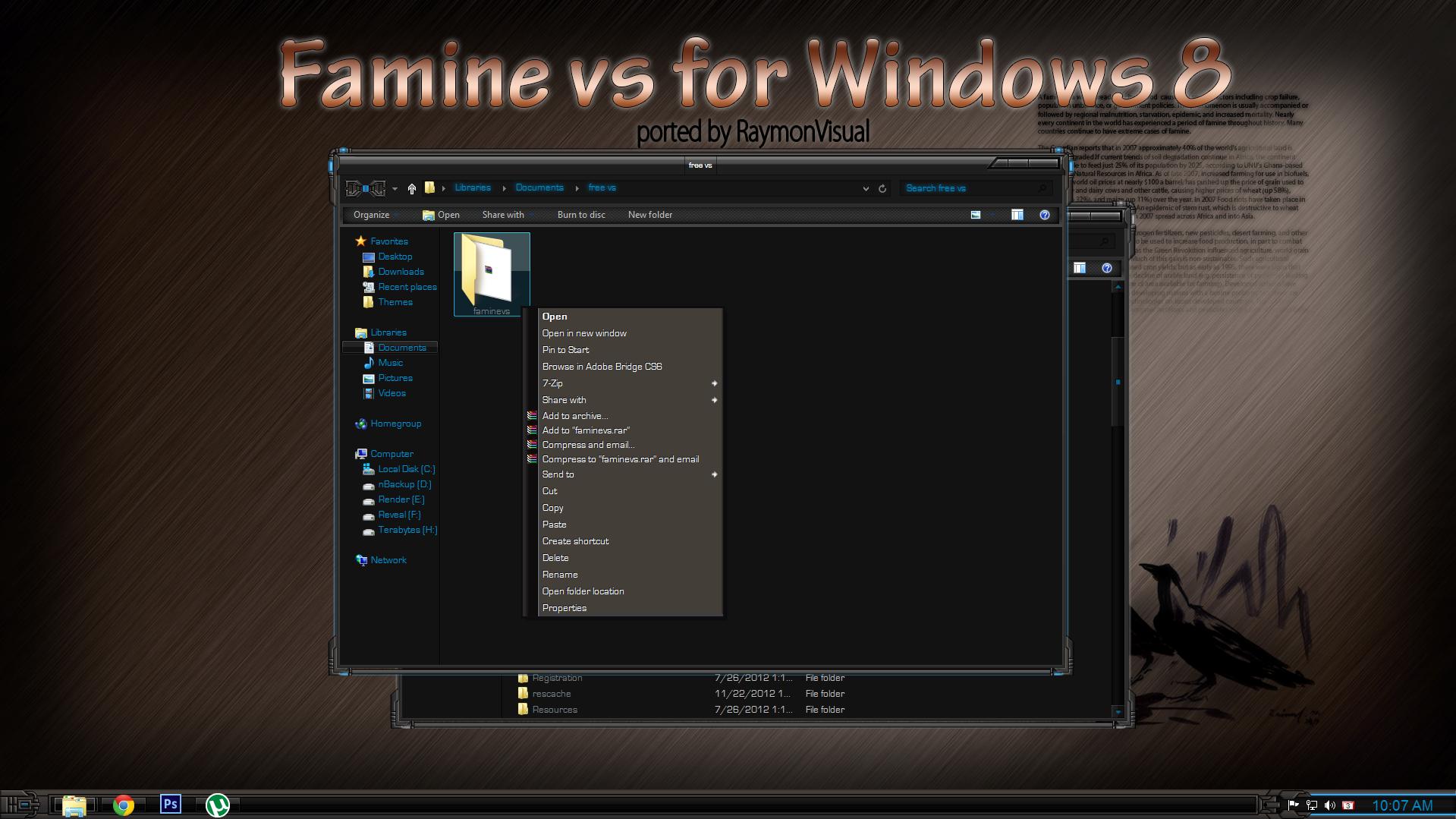 FAMINE vs port (free) for Windows8 by RaymonVisual