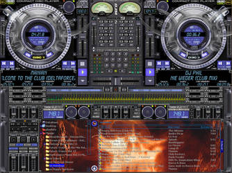Virtual DJ Deamon Skin by Dj-Hardbase