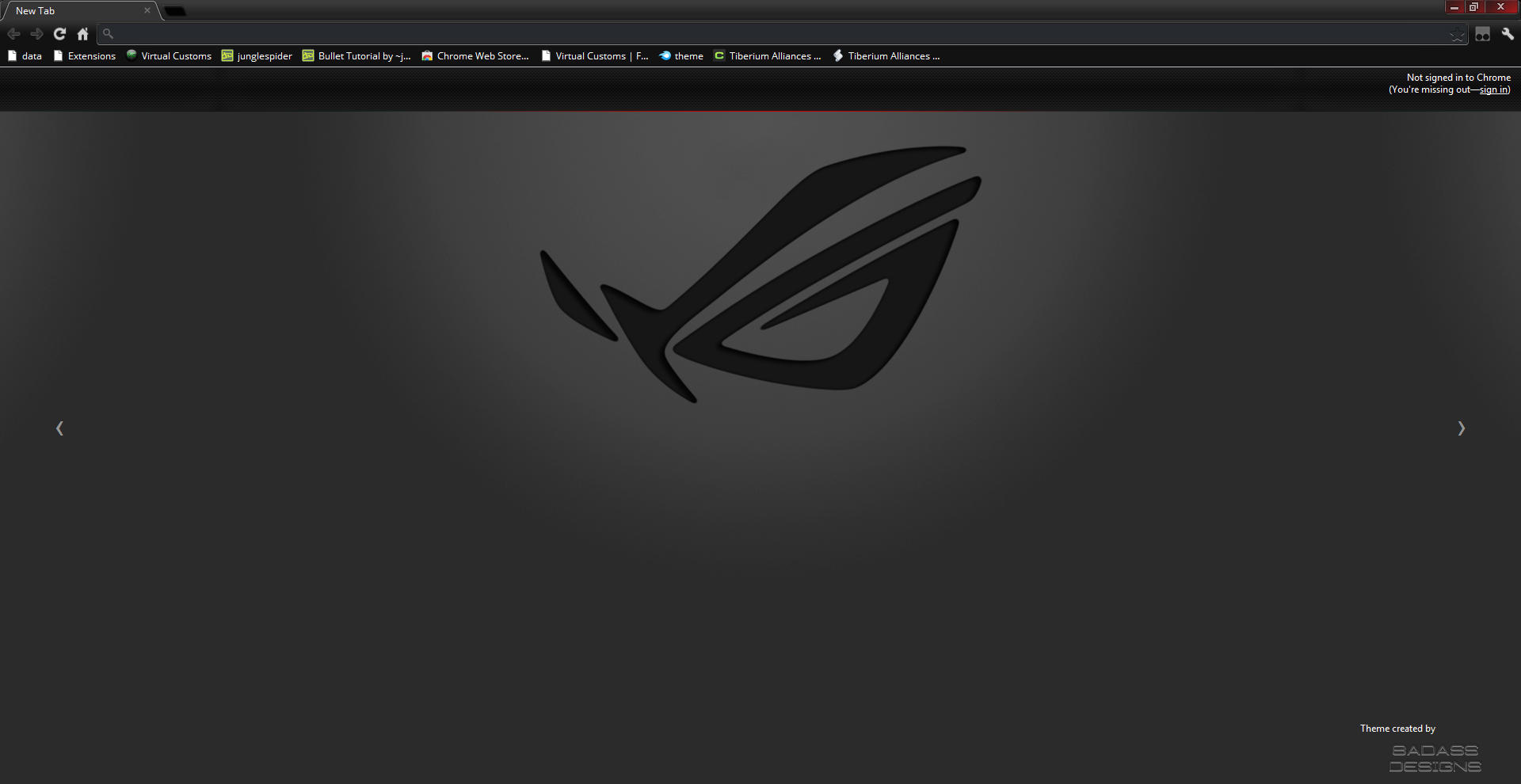 Google chrome themes in black -  Republic Of Chrome Rog Edition By Toadyshadow101