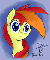 Thunder Fire making silly faces (animated... kind) by ImpCJCaesar