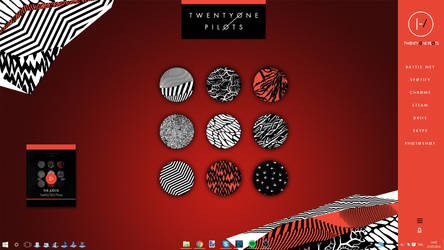 Twenty One Pilots Rainmeter Skin 2.0 by Akmos37