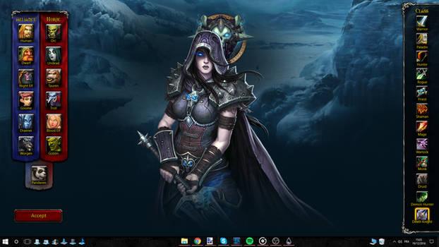 World of Warcraft Rainmeter Interactive Wallpaper