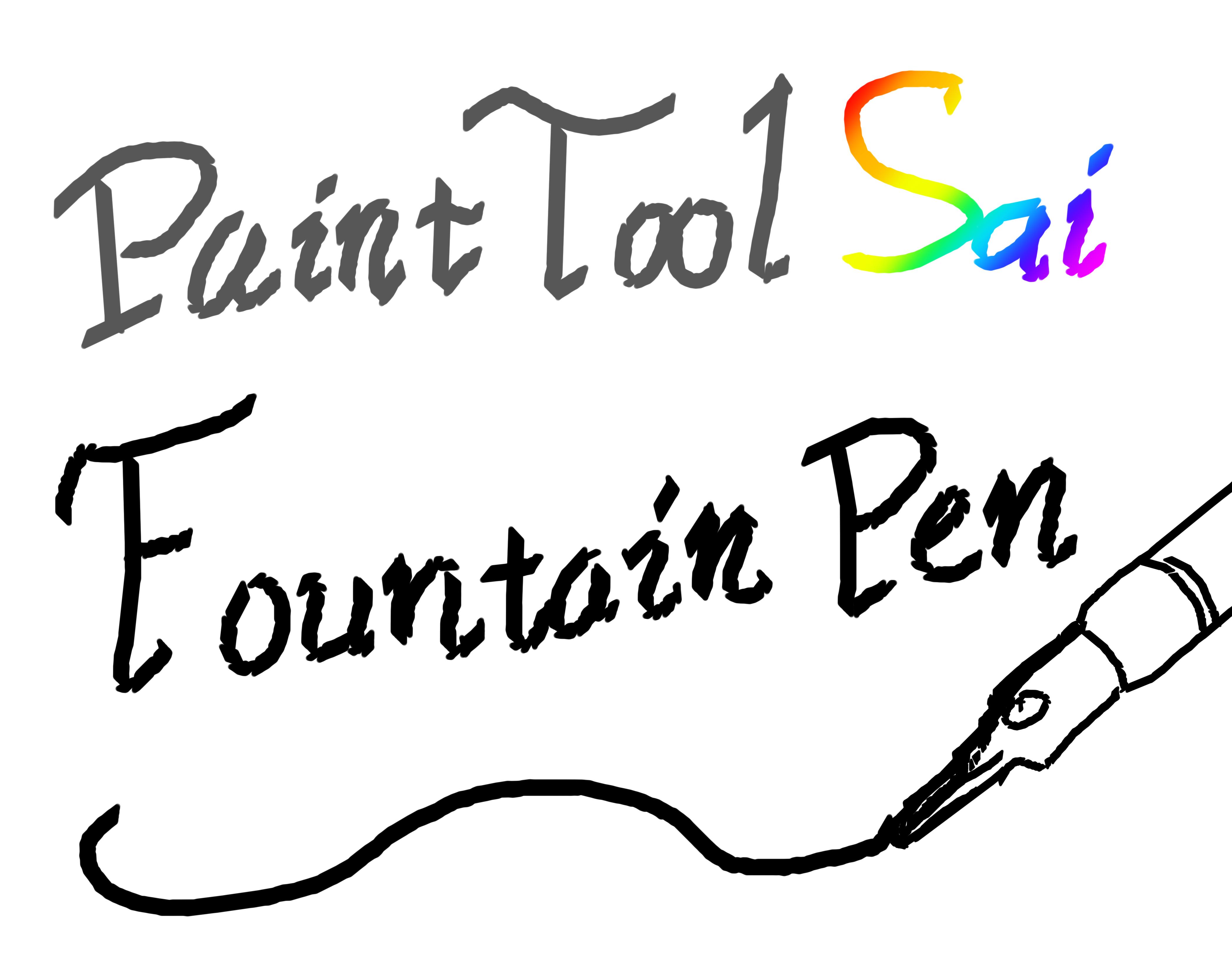 paint tool sai pen brush download