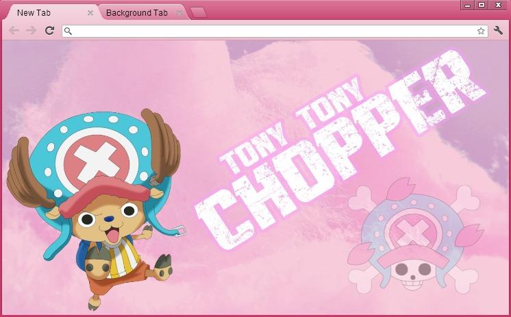 One Piece Google Chrome Theme: Tony Tony Chopper by yohohotralala on