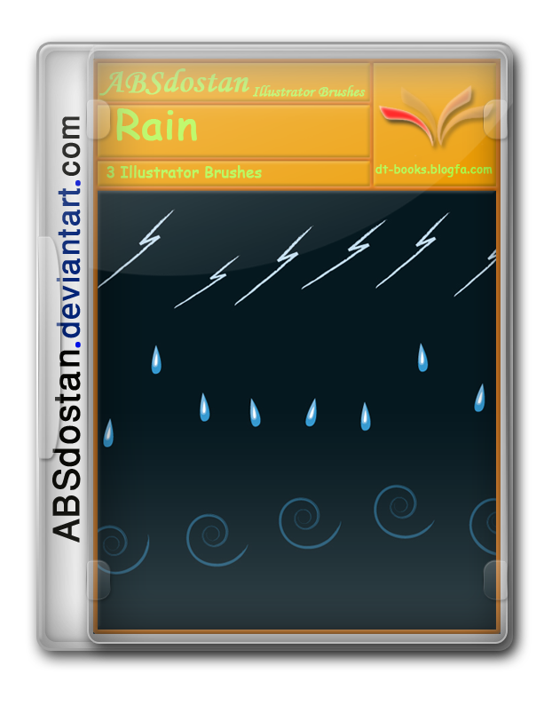 3 Illustrator brushes Rain