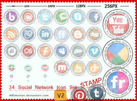 Free Stamp Social Network Icon - V2 by absdostan
