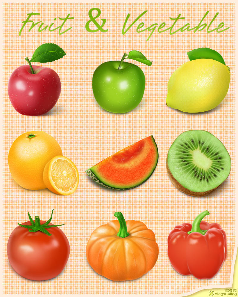 Fruit and Vegetable by bingxueling
