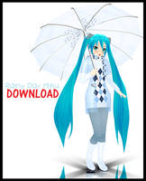 .:RainyDayMikuDOWNLOAD:. by Majikaru-Rin