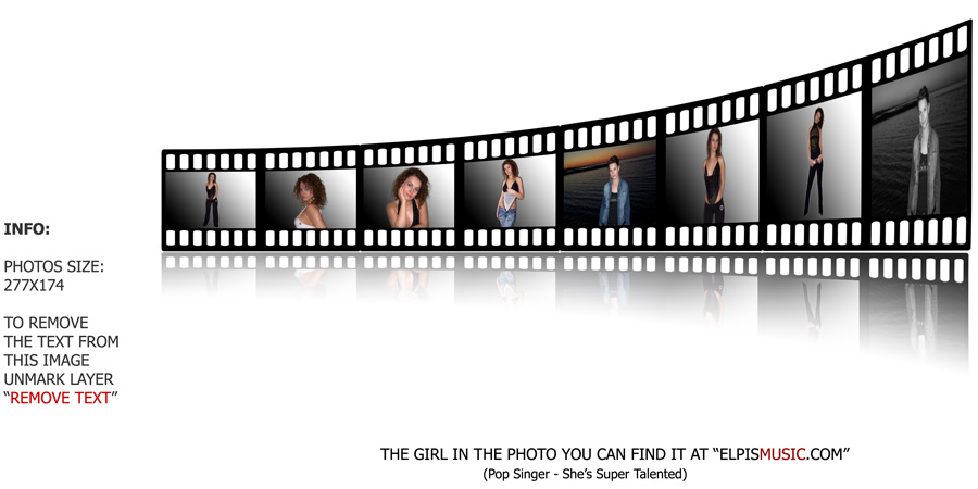 Film Strip with Reflection