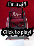 BJD Wheelchair: red fold-up demo by PuppitProductions