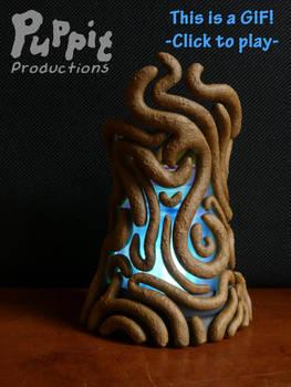 Commission: Zelda spirit orb holder GIF blue