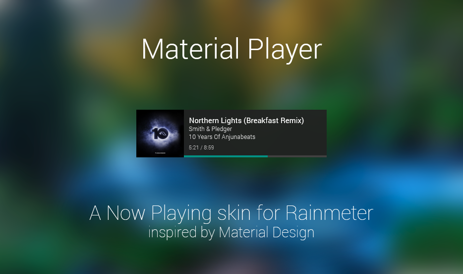 Material Player for Rainmeter by sanityvampire