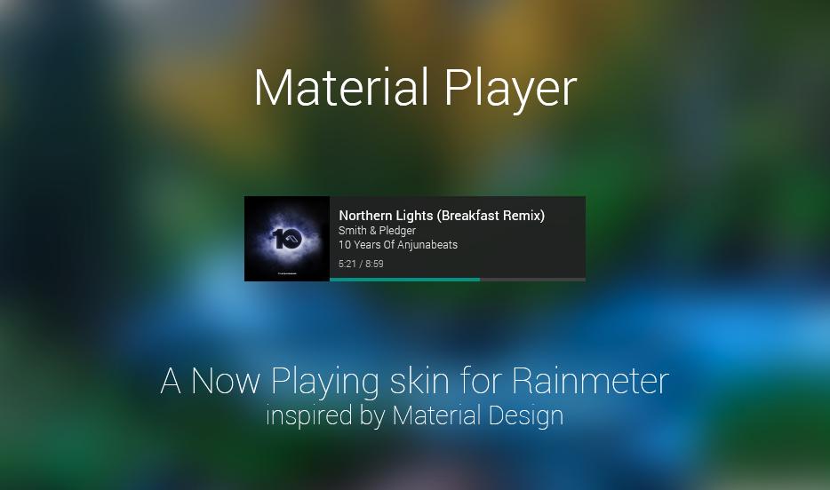Material Player for Rainmeter by sanityvampire