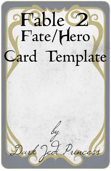 Fable II Fate Card Template by DarkJediPrincess