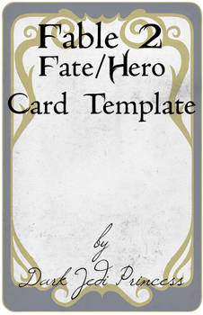 Fable II Fate Card Template