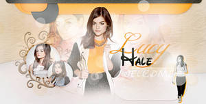 Lucy Hale PSD header by ChocolateCream-Betty