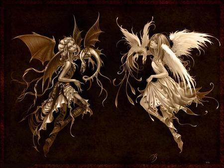 angel vs devil - HD1920×1200