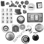 Buttons, switches and dials