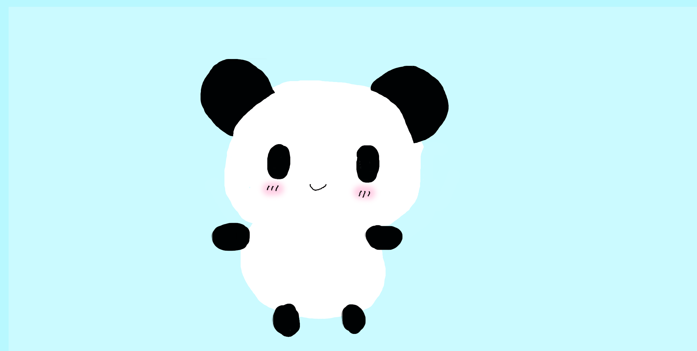 Kawaii Panda By Kittiehcakes