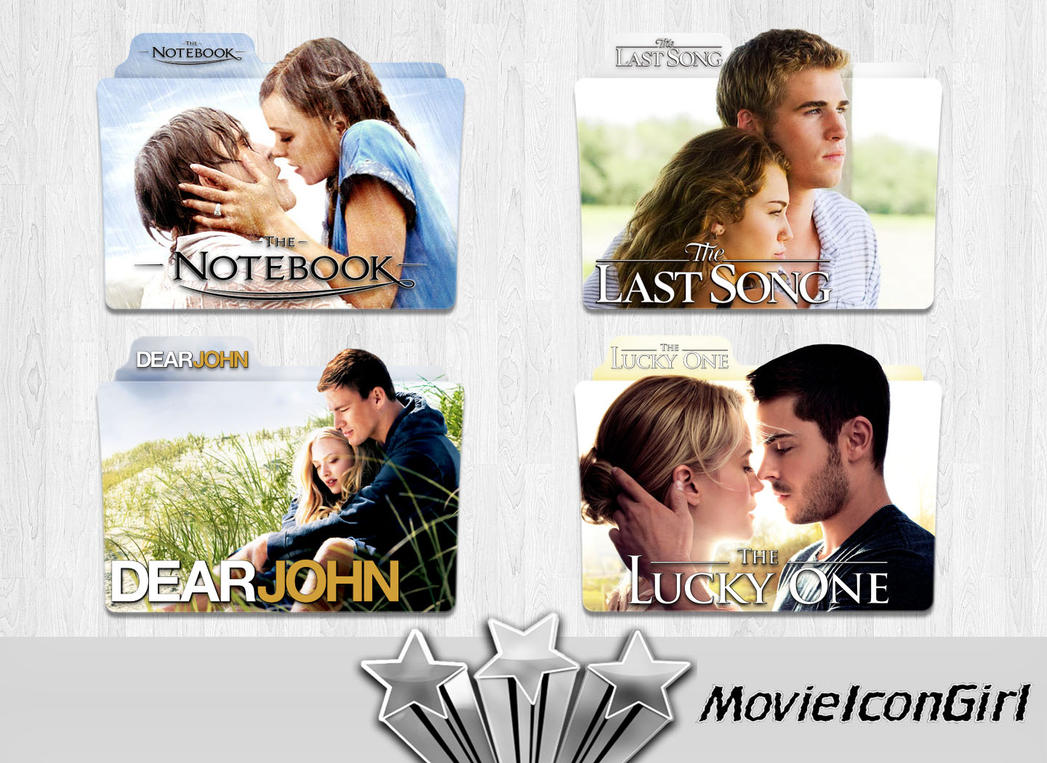 nicholas sparks 2 folder icon pack by movieicongirl on