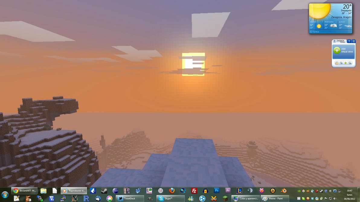 Minecraft Windows 7 Theme Pack By Yonseca On Deviantart