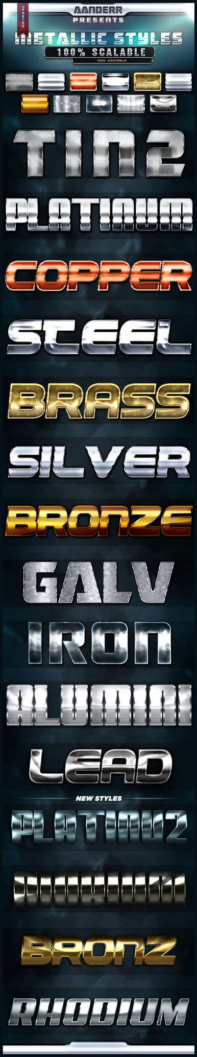 (FREE) Photoshop Metallic Styles by aanderr