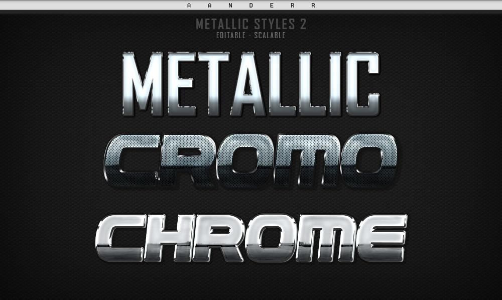 (FREE) Photoshop Metallic Styles 2 by aanderr