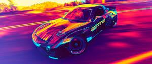 RX7 Color Gradient 4k Wallpaper