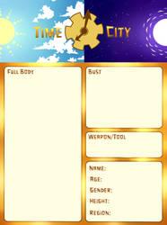 Time City Application Sheet by Noctuart