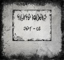Grunge borders - set 01 by LunaNYXstock