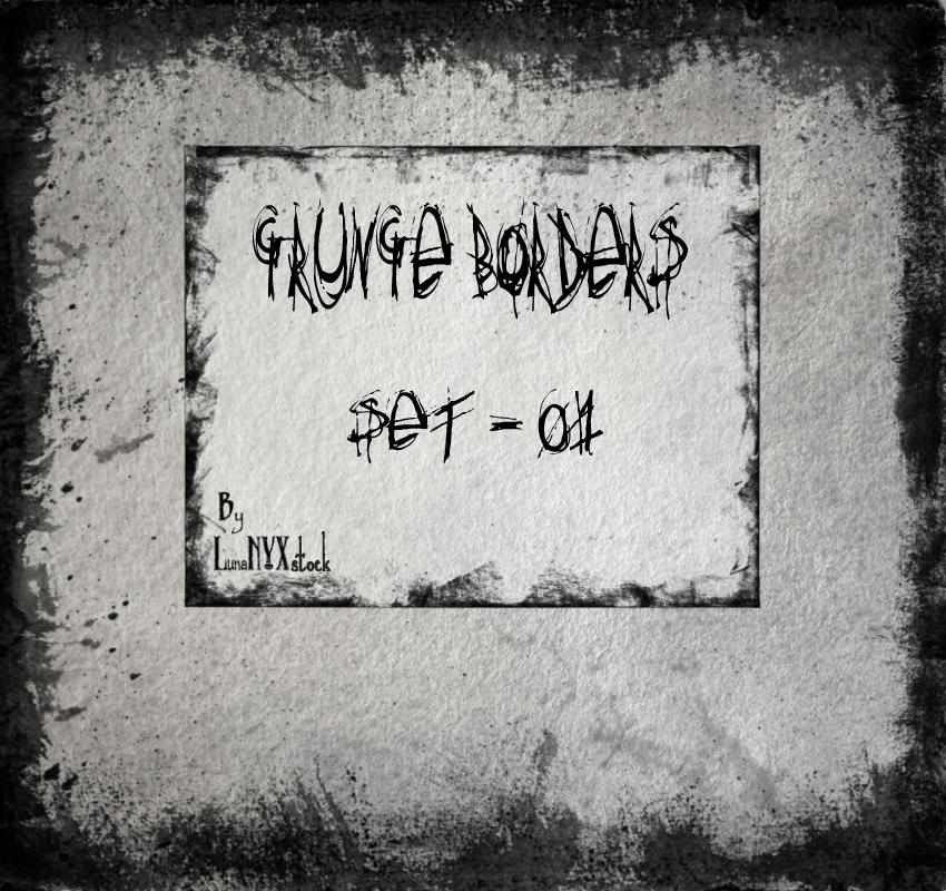 Grunge borders - set 01 by LunaNYXstock