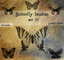 Butterfly set - 01 by LunaNYXstock