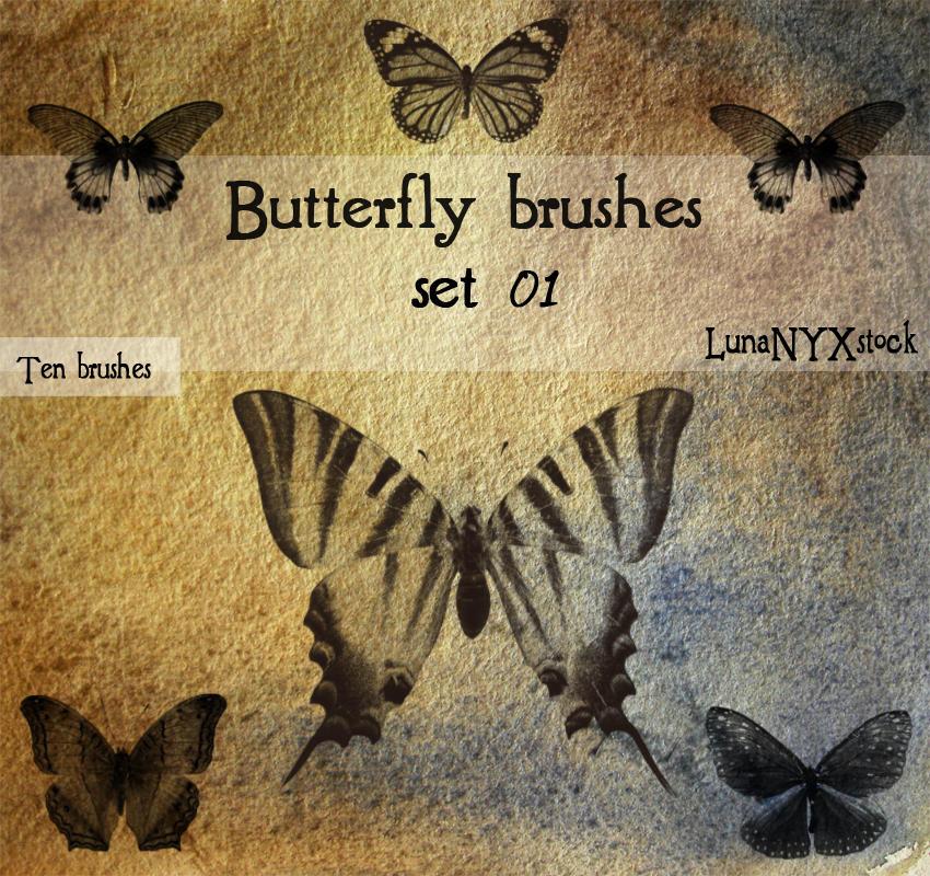 Butterfly set - 01 by LunaNYXstock