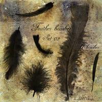 Feather brushes - set 02 by LunaNYXstock