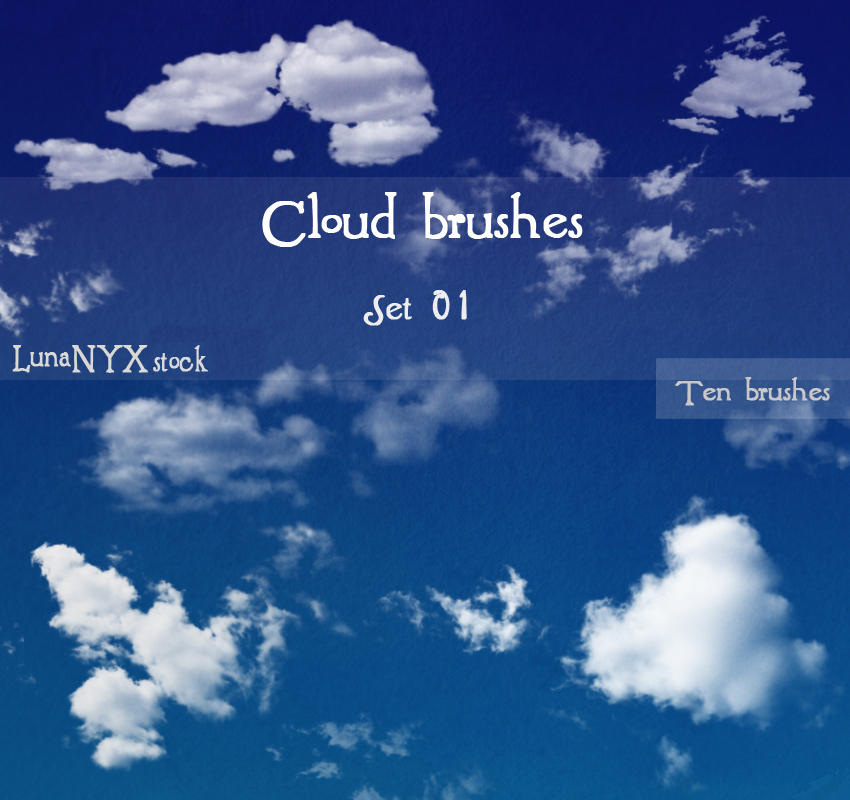 Cloud brushes - set 01 by LunaNYXstock