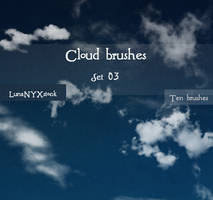Cloud brushes - set 03 by LunaNYXstock
