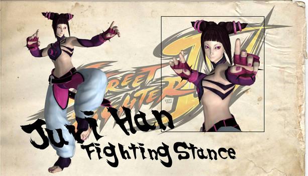 Juri Han Fighting Stance