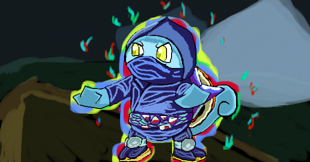 Squirtle Ninja (Project M) by 357Sneak