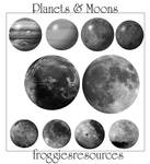 Planets and Moons Brushes