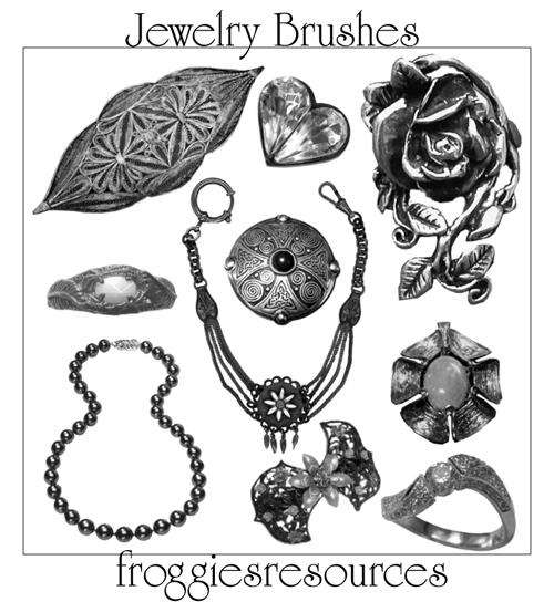 Assorted Jewelry Brushes By Froggiesresources On DeviantArt